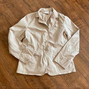 Liz Claiborne Beige Tan Jacket Coat Blazer Medium